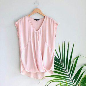 Anthro. Ro & De V-Neck Short Sleeve Blouse Blush S